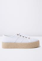 Cotton On - Espadrille sneaker - white