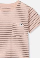 Cotton On - Core short sleeve tee - peach & black