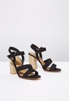 Cotton On - Santal strappy espadrille heel - black