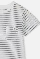 Cotton On - Core short sleeve tee - black & white