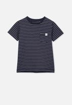 Cotton On - Core short sleeve tee - navy & white