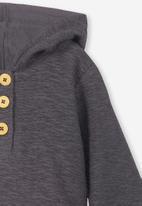 Cotton On - Blair hooded fleece top - grey