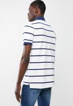 G-Star RAW - Fascia short sleeve polo - navy & white