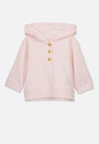 Cotton On - Blair hooded fleece top - pink
