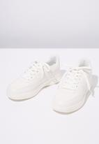 Cotton On - Faux leather sneaker - white