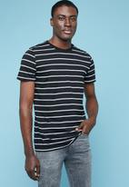 Superbalist - Nautical stripe crew neck tee - black & white