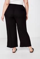 Cotton On - Curve wide drape pant - black