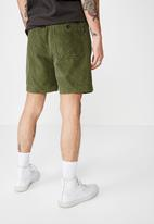 Cotton On - Street volley short - washed khaki cord