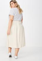 Cotton On - Curve gathered willow skirt - beige