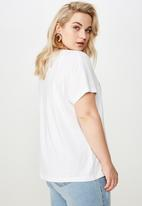 Cotton On - Curve graphic license tee - white