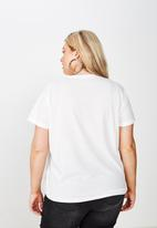 Cotton On - Curve graphic tee native cacti - white