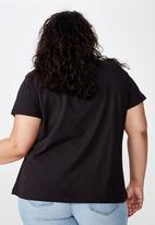 Cotton On - Curve graphic license te - friends logo black