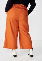 Cotton On - Curve paper bag culotte - orange