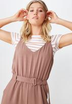 Cotton On - Woven Jilian strappy jumpsuit - pink