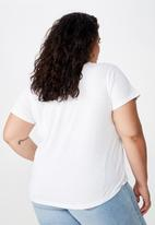 Cotton On - Curve graphic tee NYC - white