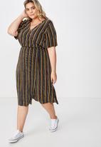 Cotton On - Curve midi V-neck dress - multi