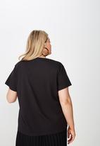 Cotton On - Curve graphic tee nightblooming - black