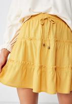 Cotton On - Woven chloe mini skirt - yellow