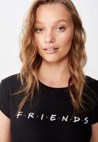 Cotton On - Essential friends T-shirt lcn wb friends logo - black