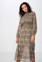 Cotton On - Woven lilian midi dress - multi