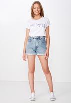 Cotton On - Classic slogan T-shirt California USA - white