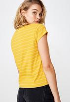 Cotton On - Essential short sleeve weekends NYC - yellow & white