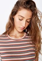 Cotton On - The baby tee nic stripe - multi