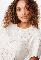 Cotton On - Billy short sleeve blouse - cream