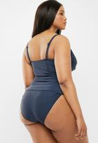 Quayside - Cross front tankini - navy