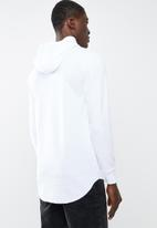 Cotton On - Hooded waffle tee - white