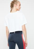 Reebok - Linear logo crop tee - white