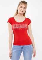 Sissy Boy - Bling basic tee - red