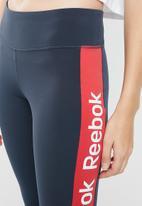 Reebok - Linear logo tight - navy & red
