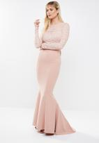 Sissy Boy - Lace mixed maxi - pink