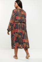 edit Plus - Peasant dress - multi