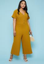 Superbalist - Button through jumpsuit - yellow