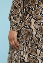 Superbalist - Maxi button down dress - black & brown