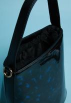 Superbalist - Patent perspex bag - blue & black