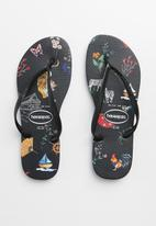 Havaianas - Slim animal print - black