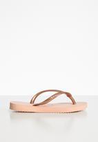 Havaianas - Slip flip flops - peach