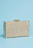 dailyfriday - Geometric case boxed clutch - beige & gold