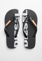 Diesel  - SA-briian w flip flops - black/orange popsicle