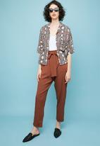 Superbalist - Paperbag trouser - rust