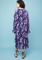 Superbalist - Tiered midi dress - purple