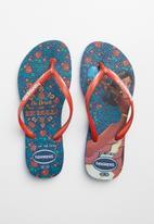 Havaianas - Elena flip flops - blue & red