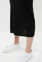 Brave Soul - Ribbed maxi skirt - black