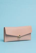 Superbalist - Faux leather metal detail purse - pink