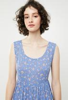 Brave Soul - All over print smock dress - multi