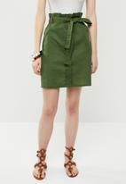 Brave Soul - Paperbag skirt - khaki