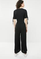 Brave Soul - Button through jumpsuit - black
